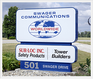 Sur-Loc Founder Bill Swager began a rigging career in the 1930's. In the early 1950's, he began his own tower erecting company, now known as Swager Communications, Inc. As time went by, his sons joined him in business.